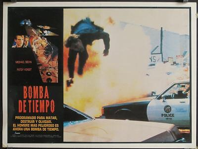 L464 TIMEBOMB Mexican Lobby card Patsy Kensit, Michael Biehn is about to explode