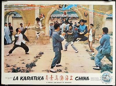L495 Brave Girl Boxer from Shanghai, Mexican Lobby Card, Chung-Erh Lung 1972