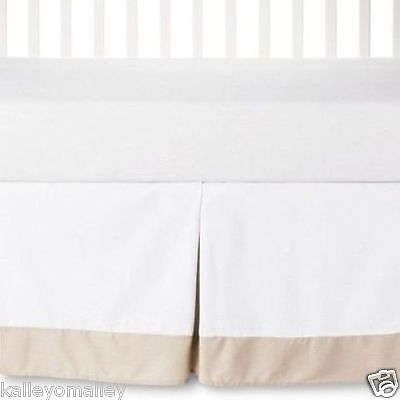 Circo Craft 100% Cotton Pleated Baby Crib Bed Skirt Brown & White