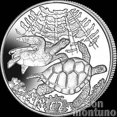 2017 GREEN TURTLE - CuNi Copper Nickel UNC Coin - British Indian Ocean Territory