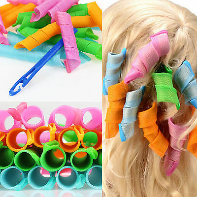 30 50CM Hair Curler Twist Spiral Circle Curl Ringlet Magic Roller Styling Tool