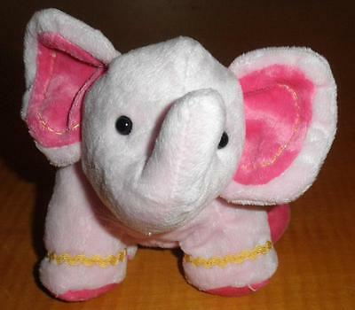 Child of Mine Carters Pink Beanbag Plush Stuffed Elephant Rattle Toy