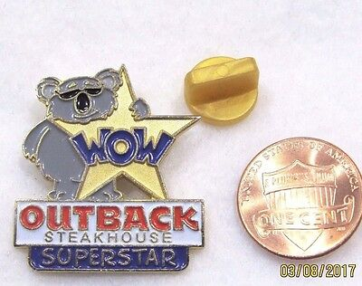 Outback Steakhouse Wow Koala Superstar Lapel Pin Pinback Travel Food