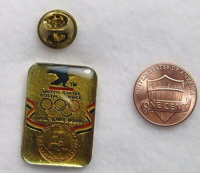 United States Postal Service Offical Olympic Sponser Lapel Pin Pinback Hat Medal