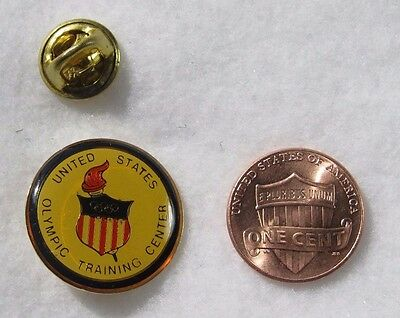 United States Olympic Training Center Flame Shield Lapel Pin Pinback Hat Medal