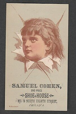 Victorian Trade Card Sam Cohen One Price Shoe House Philadelphia