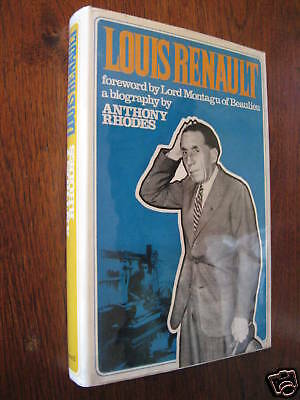LOUIS RENAULT by RHODES, 235pgs CARS outstanding inventor etc ILLUST'D 1st ed+DW