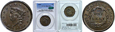 1816 Large Cent PCGS MS-64 BN CAC N-2
