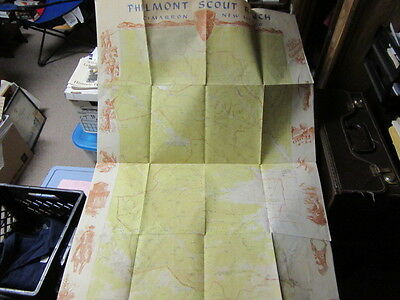 Philmont Scout Ranch Topographical Map, paper, 1956          cjp nj1