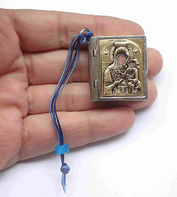 Greek Orthodox Miniature Bible Charm Container Virgin MARY NEW # Free Shipping
