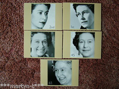 PHQ Stamp cards FDI Back No 238 Golden Jubilee 2002. 5 card set  Mint Condition