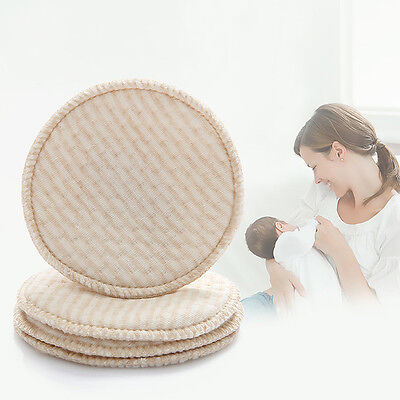 4Pcs Mom Baby Feeding Breast Maternity Washable Nursing Pad Leakproof Reusable