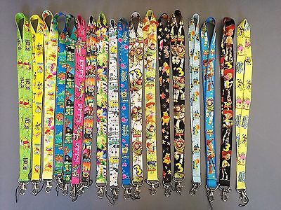 Spongebob Pooh ToyStory Tinkerbell Lanyard Neck Strap ID Badge Key Phone Whistle