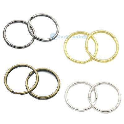 "Keyring 1"" 25mm Keychain split ring for Snap Hook buckles key Swivel clip Choice"
