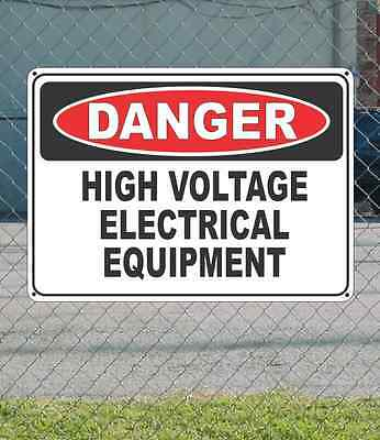 """DANGER High Voltage Electrical Equipment - OSHA Safety SIGN 10"""" x 14"""""""