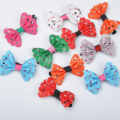 5pcs 10Pcs Toddler Girl Hair Clip Ribbon Bow Baby Kids Satin Bowknot Headband #1