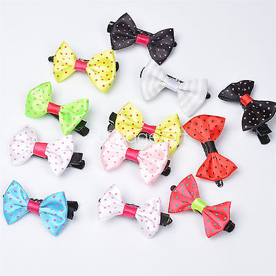 5pcs 10Pcs Toddler Girl Hair Clip Ribbon Bow Baby Kids Satin Bowknot Headband #2