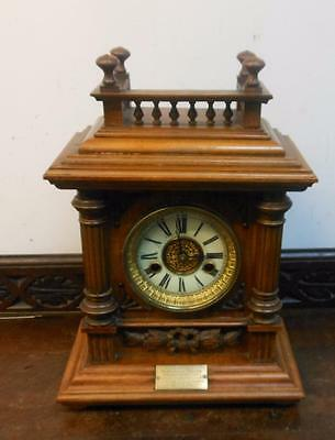 hac walnut cased striking bracket clock c1900s