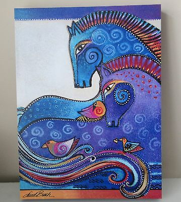Laurel Burch Aquatic Mares Horses Canvas Wall Art 12x16 RETIRED Horse