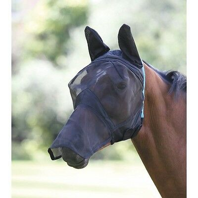 New Shires Fine Mesh Fly Mask With Ears & Nose 6654, Small Pony, Pony, Cob, Full
