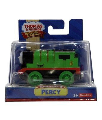 Fisher-Price Thomas the Train Wooden Railway Battery-Operated Percy