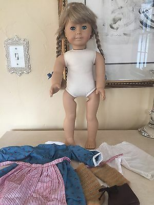 American Girl WHITE BODY KIRSTEN Doll PLEASANT COMPANY Meet Outfit! Tagged1986!