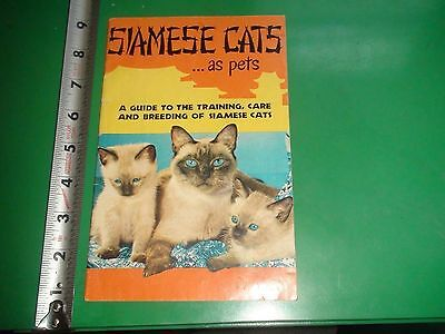 JD277 Vintage 1956 Siamese Cats Training Breeding Care Guide
