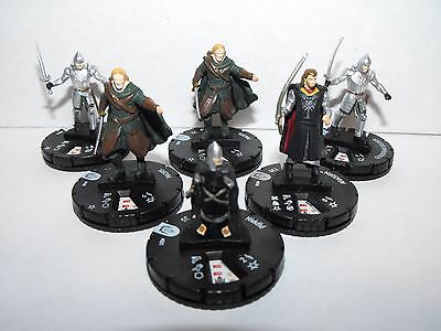 Heroclix Lord Of The Rings Gondor Lot With Rare Aragorn