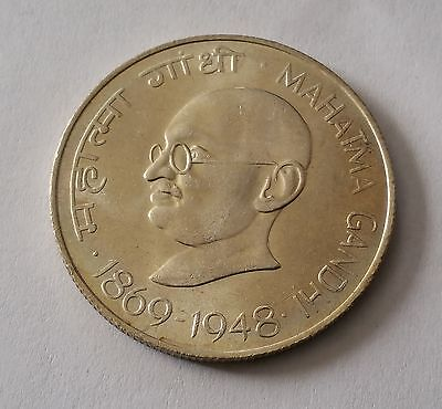 1969 India . 10 Rupees . Silver Coin  . Km# 185