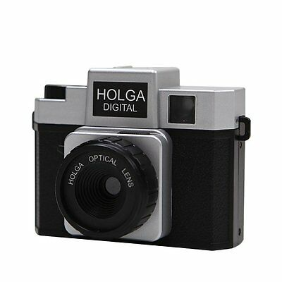 Photo Video Picture Holga Digital Black Silver Toy Camera For Photography Lover