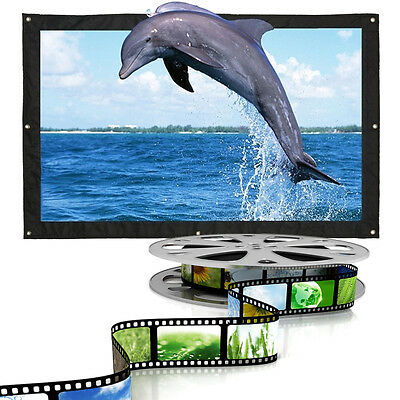 150 inch 16:9 HD Projector Screen Foldable Projection Screen Canvas Curtain