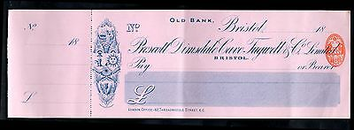 Prescott Dimsdale Cave Tugwell & Co, Old Bank, Bristol, Unused, c/foil. 18(92).