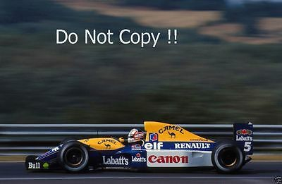 Nigel Mansell Williams FW14B F1 Season 1992 Photograph 2