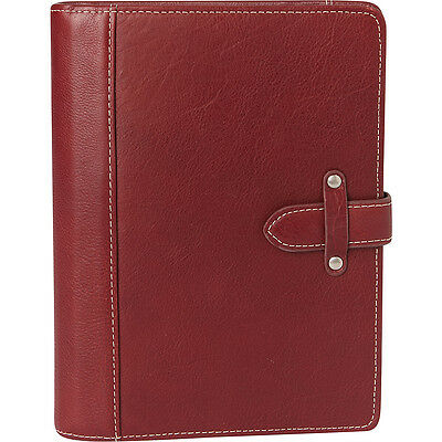 Franklin Covey Classic Aurora Leather Binder - Red Business Accessorie NEW