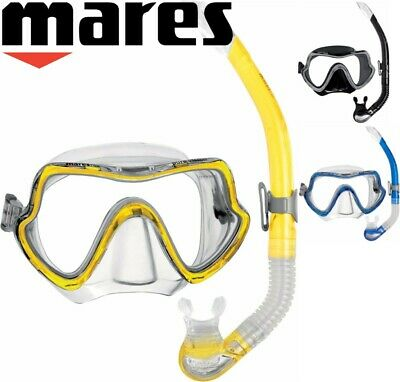 Mares Snorkel Set Combo - Wide View Silicone Mask and Purge Valve Snorkel