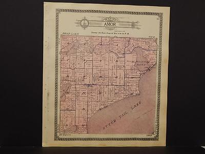 Minnesota  Otter Tail County Map Maine or Amor Township   1912  K12#62