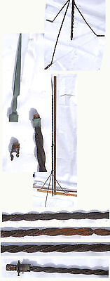 """Antique Vintage Lightning Rod W/tripod Stand & Spike Finial  60"""" Tall"""