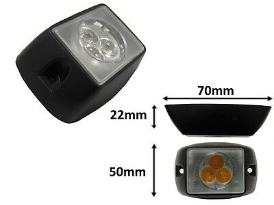 IC360 Square Surface Mount E-marked 3 LED Grill Amber Light Module 12v 24v