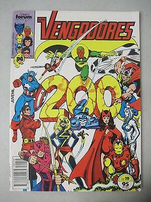 LOS VENGADORES No.19 SPANISH FOREIGN LANGUAGE EDITION OF THE AVENGERS 200 PEREZ