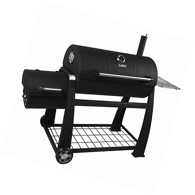 Lokkii M.838 Perfection Full Smoker BBQ - Black, barbeque, smoking, smoke,