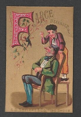 """Victorian Trade Card S.d. Sollers Shoes Alphabet  """"f"""""""