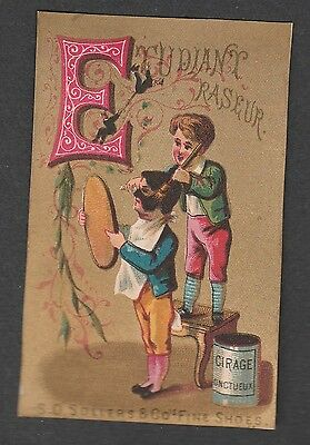 "Victorian Trade Card S.d. Sollers Shoes Alphabet  ""e"""