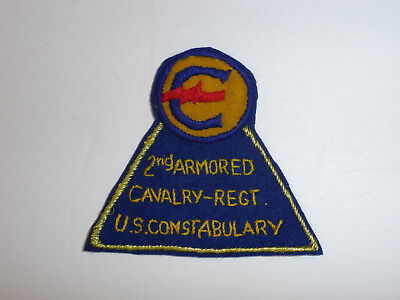 b7607 Post WW 2 US Army US Constabulary 2nd Armored Cavalry Regt. Regiment R8D