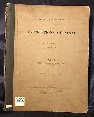 Inscriptions of Sinai.*RARE* Part I by AlanGardiner & Peet. EGYPT.RELIEFS+PLANS