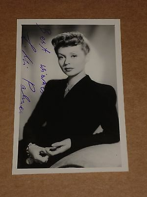 Lilli Palmer 5 x 3 mid 1950s Agency Publicity Photo (Hand Signed)