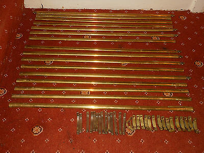 Antique brass carpet stair rods spares / repairs *brackets not included