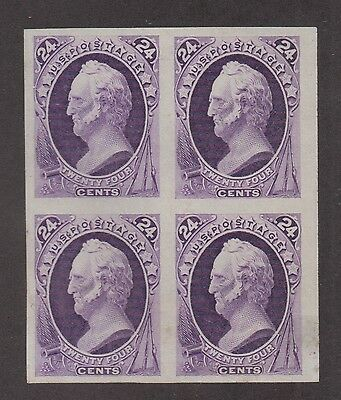 **US SC# 153p3 Unused GEM Plate Proof on India Paper, Block of 4, CV $135.00
