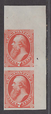 **US SC#149p3 Pair Plate Proof on India, 2 Pinholes in Top Stamp CV $15.00