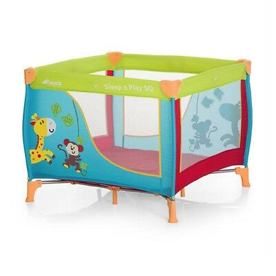 Hauck Sleep'n'Play Square (Jungle Fun) Travel Cot and Playpen