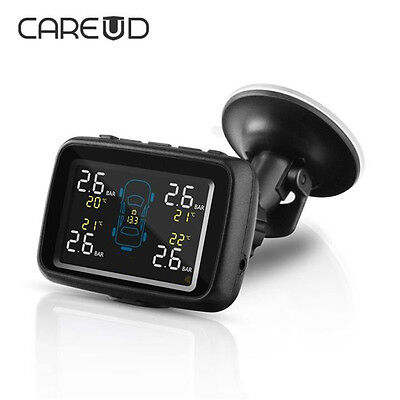 Car Auto Wireless TPMS Tire Pressure Monitor System + 4 External Sensor For Car